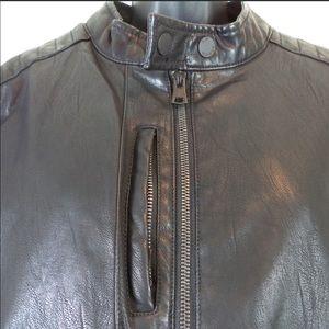 Indigo Star Faux Leather Jacket